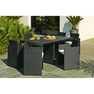 salon de jardin table et chaise mobilier de jardin leroy merlin. Black Bedroom Furniture Sets. Home Design Ideas