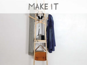 diy r aliser un porte manteau 4 en 1 avec des tasseaux. Black Bedroom Furniture Sets. Home Design Ideas