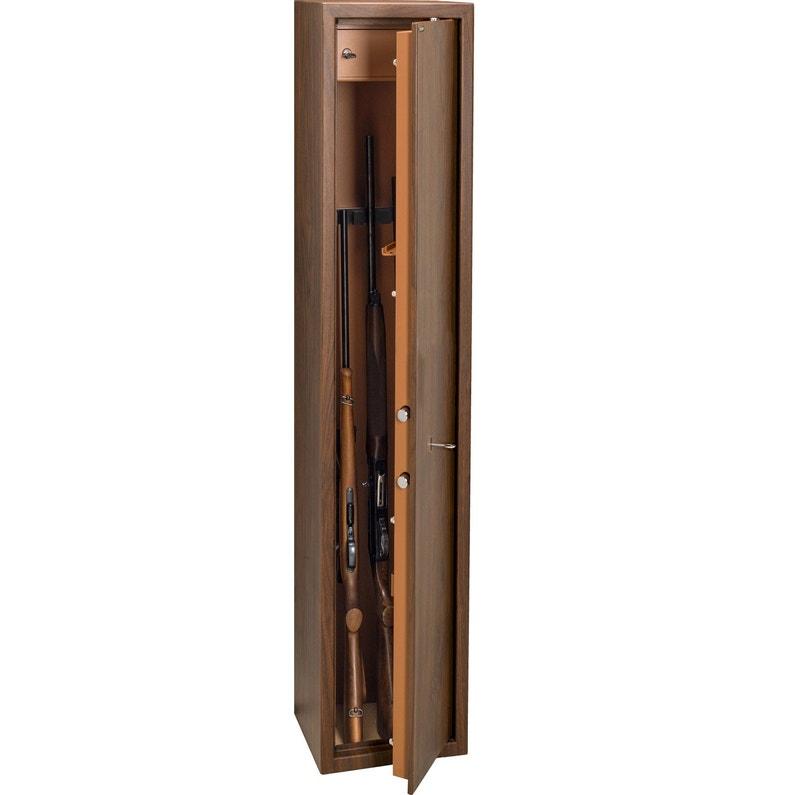 Armoire à Fusils à Clé 4 Fusils Technosafe Tcl4 H140 X L25 X P25 Cm