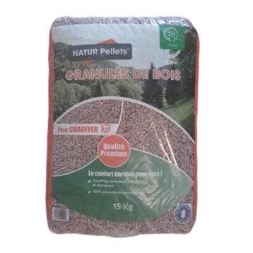 Granulés de bois AZURENERGIE en sac, 15 kg