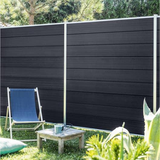 cl ture composer plastique marly noir leroy merlin. Black Bedroom Furniture Sets. Home Design Ideas