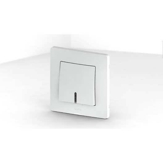 interrupteur va et vient voyant t moin ou lumineux nora blanc debflex leroy merlin. Black Bedroom Furniture Sets. Home Design Ideas