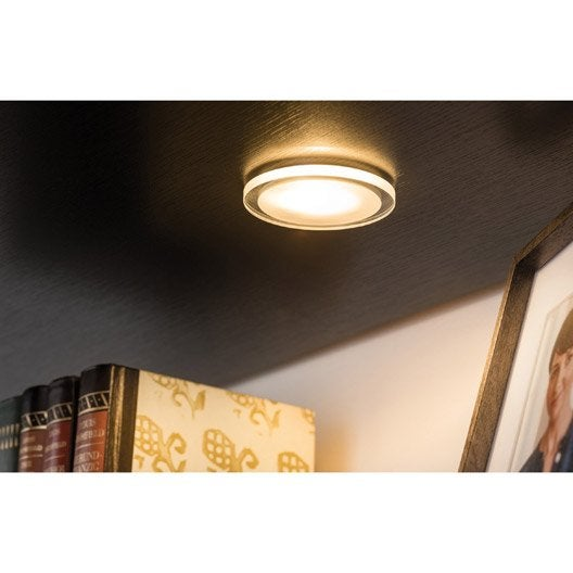 kit 3 spots encastrer mini whirl fixe led paulmann led int gr e transparent leroy merlin. Black Bedroom Furniture Sets. Home Design Ideas