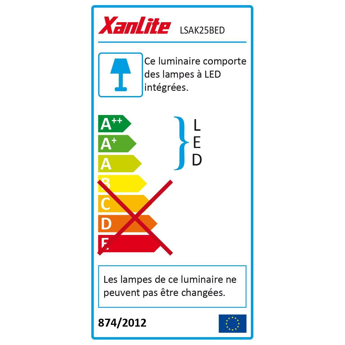 2 De Chaud Kit X Bedlight 1 1600k Xanlite Led Lit Blanc 25m Ruban Dessous ywOmnvN80