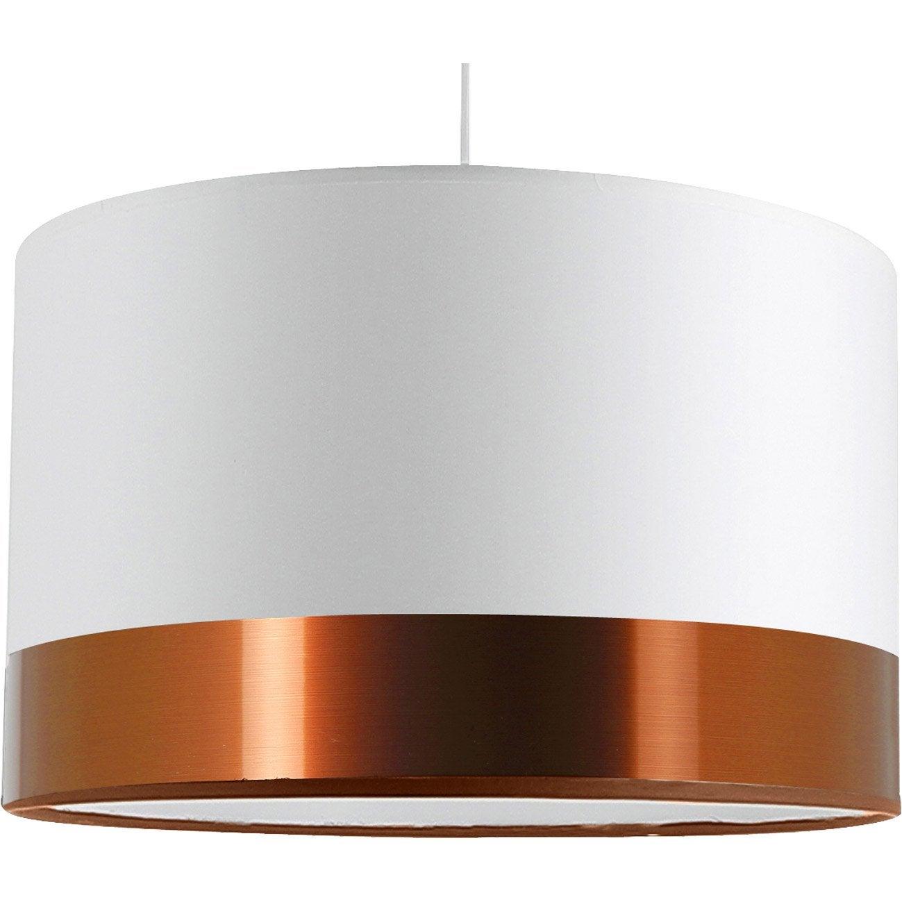 Suspension, classique chic blanc/cuivre plastique METROPOLIGHT Natt 1 lumière(s)