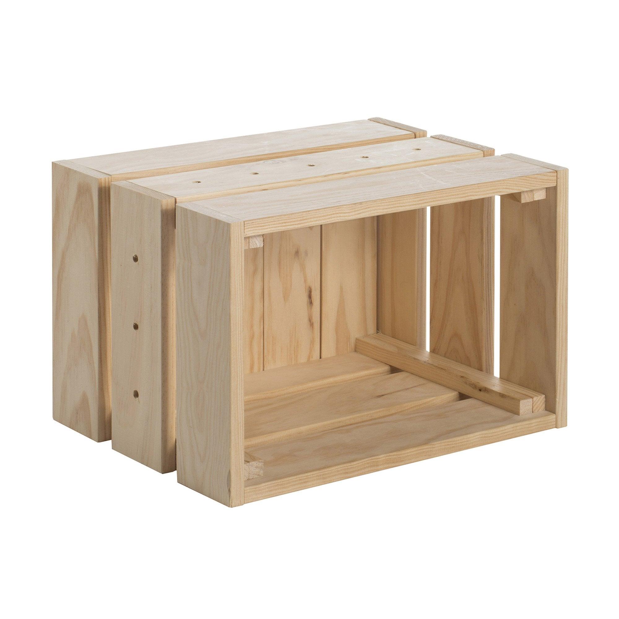 Caisse à monter Home box pin l.38 x P.28 x H.28 cm, 29.5 l