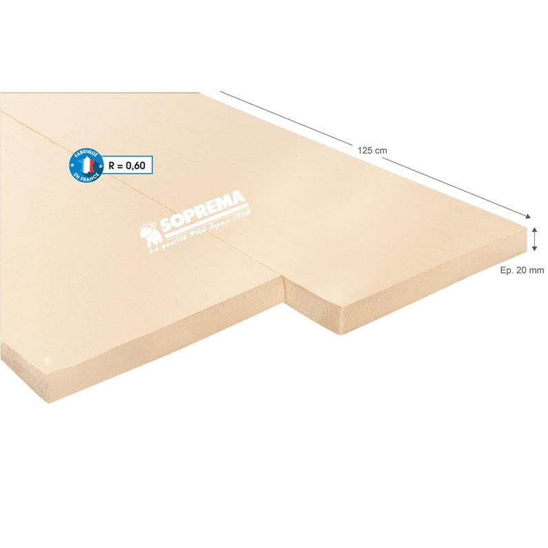 Panneau Polystyrène Extrudé L06 X L125 X Ep20 Mm Rr Inférieur à 1