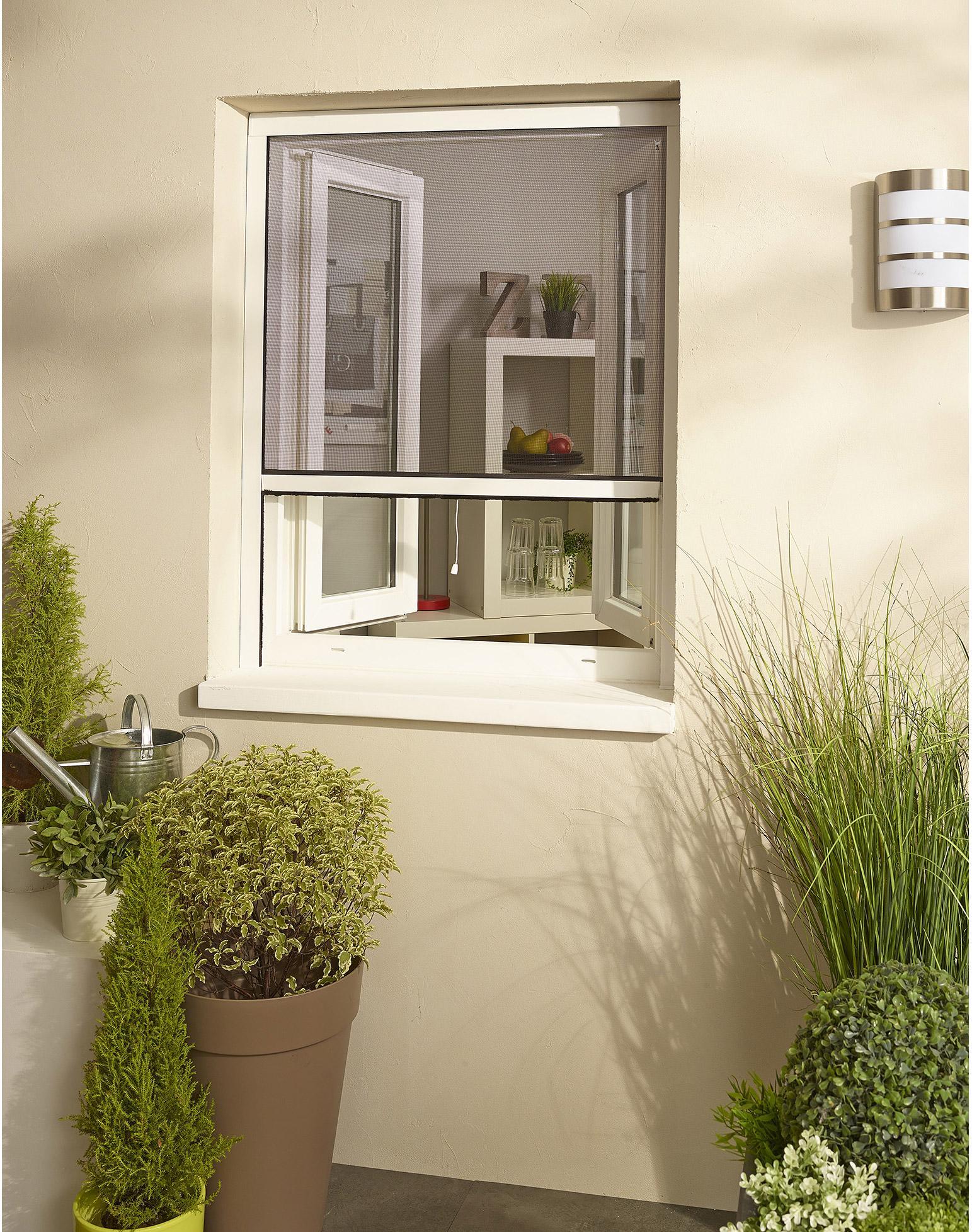 moustiquaire pour fenêtre à enroulement vertical h160 x l