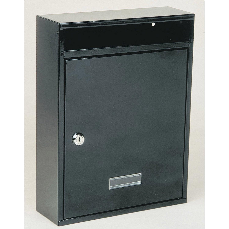 bo te aux lettres r novation 1 porte decayeux norma acier brun leroy merlin. Black Bedroom Furniture Sets. Home Design Ideas