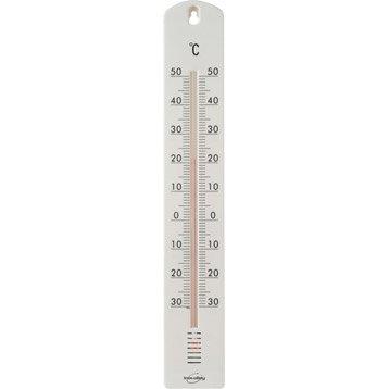 Thermomètre blanc intérieur ou extérieur INOVALLEY