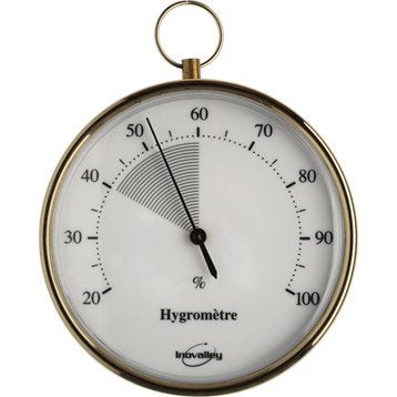 Hygromètre doré intérieur ou extérieur INOVALLEY