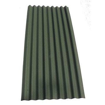 Plaque ondulé bitumée vert IKO Easy topline l.0.86 x L.2 m