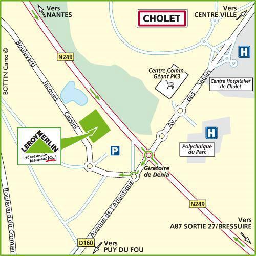 Plan d'accès au magasin Leroy Merlin de La rochelle (puilboreau)