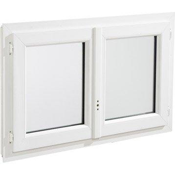 Fenêtre pvc 2 vantaux ouvrant à la française H.95 x l.80 cm