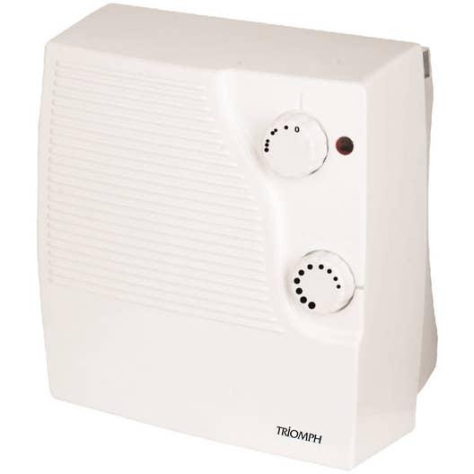 Radiateur soufflant salle de bain fixe lectrique triomph etf1536 2000 w leroy merlin - Radiateur salle de bain electrique ...