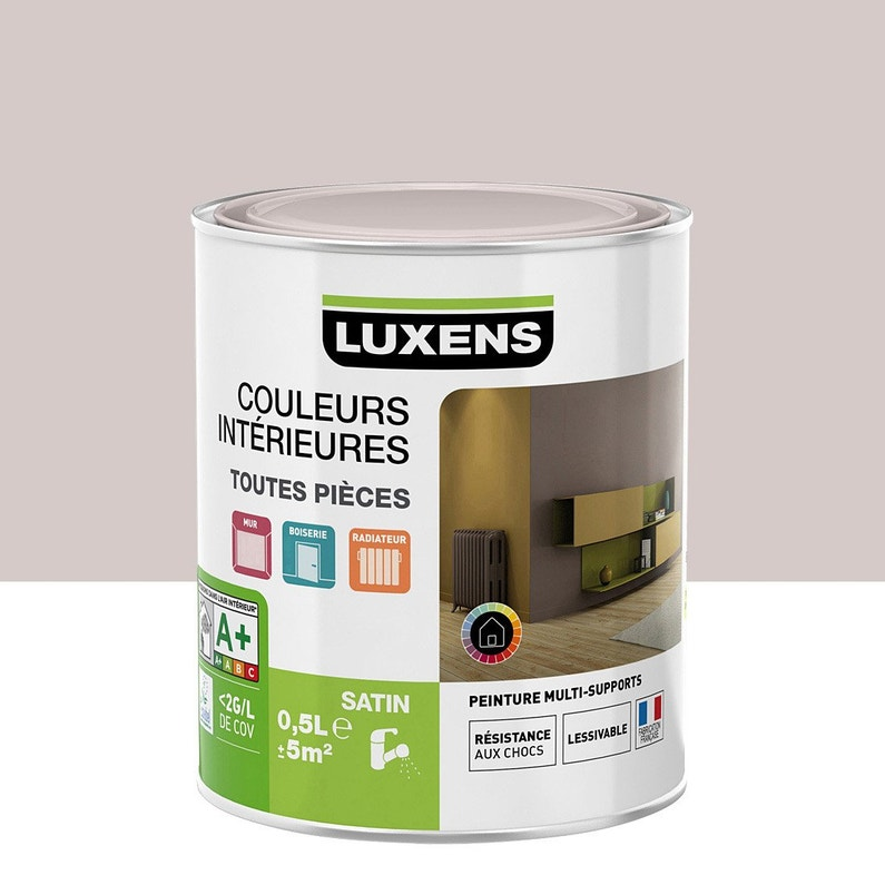 Peinture Brun Taupe 6 Satin Luxens Couleurs Intérieures Satin 05 L