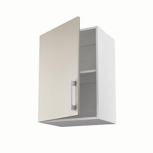 Meuble de cuisine haut gris 1 porte topaze h70xl50xp35 cm for Meuble haut cuisine 50 cm
