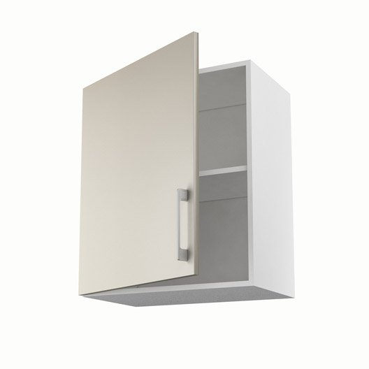 Meuble de cuisine haut gris 1 porte topaze x x p for Meuble 70 cm de haut