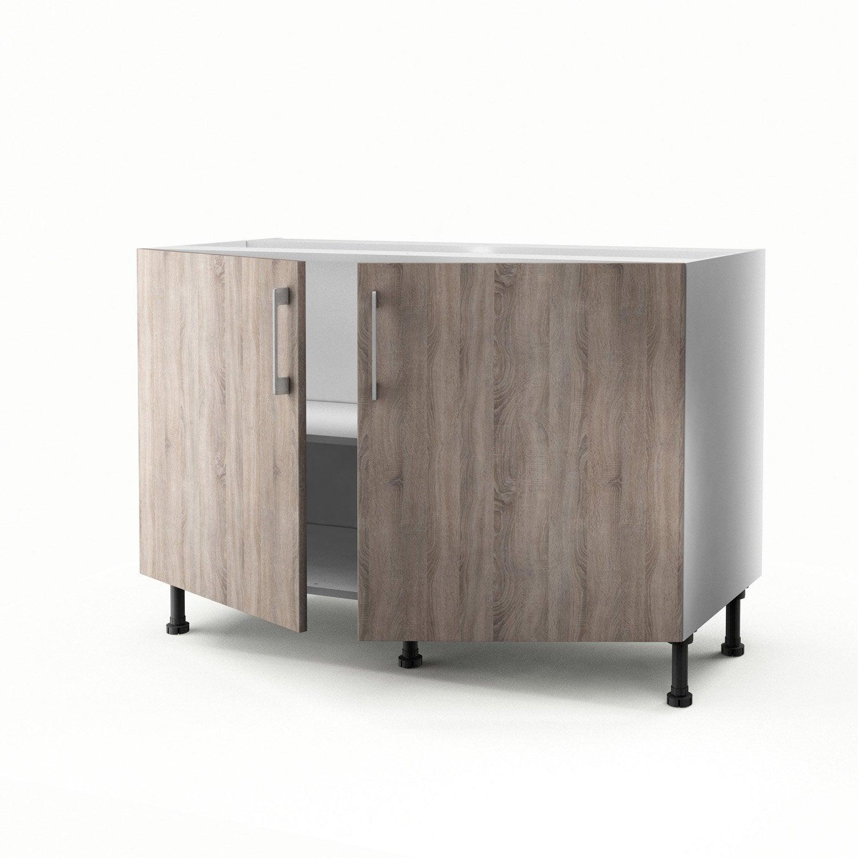 Meuble de cuisine sous vier d cor 2 portes topaze x for Meuble de cuisine 120 cm