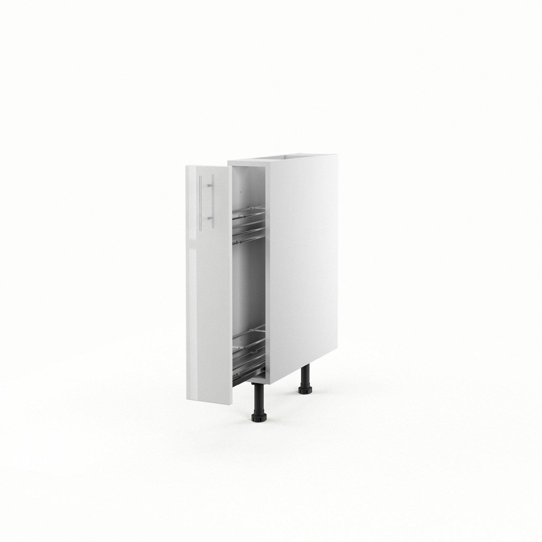 meuble de cuisine bas blanc 1 porte rio x x cm leroy merlin. Black Bedroom Furniture Sets. Home Design Ideas