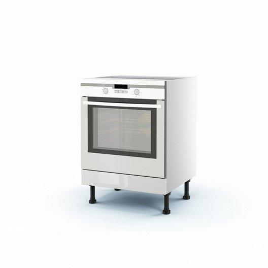meuble de cuisine bas blanc four rio h.70 x l.60 x p.56 cm | leroy ... - Meuble Pour Four Encastrable A Poser Sur Plan De Travail