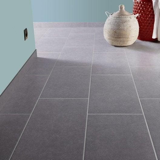 Carrelage sol et mur gris clair effet pierre bruges x for Carrelage sol interieur gris clair