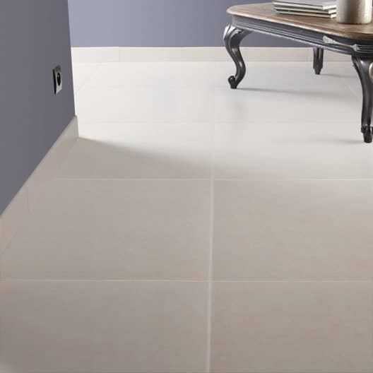 Carrelage sol et mur blanc ivoire 5 effet b ton universo l for Carrelage blanc mat 30x60