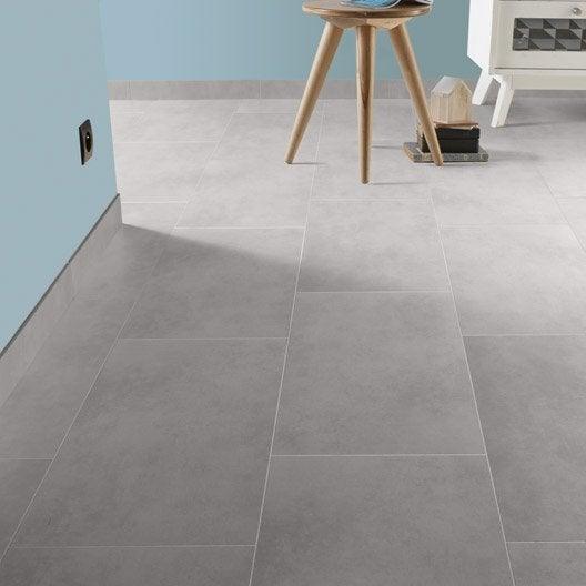 Carrelage sol et mur blanc calcaire 5 effet b ton oslo x cm ler - Carrelage interieur clipsable ...