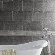 Carrelage sol et mur gris, Vestige l.30 x L.60 cm
