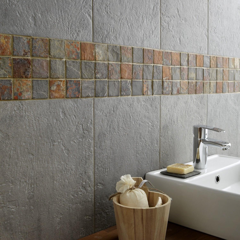 Carrelage sol et mur gris vestige x cm leroy merlin - Leroy merlin piastrelle mosaico ...