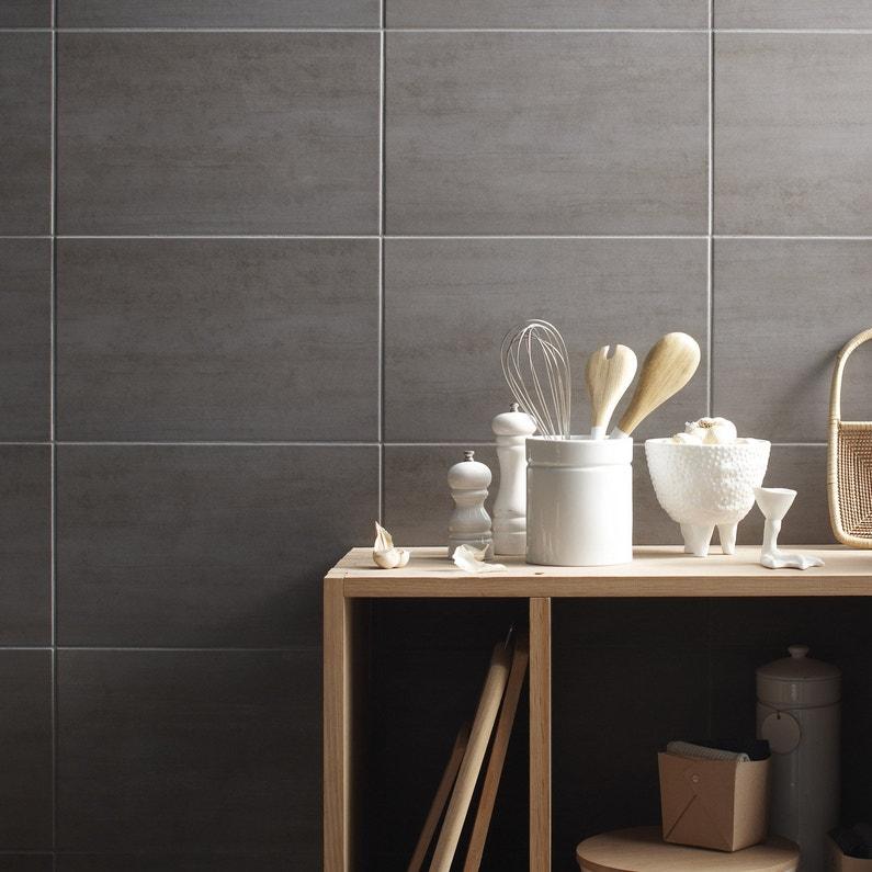 fa ence mur gris clair eiffel x cm leroy merlin. Black Bedroom Furniture Sets. Home Design Ideas