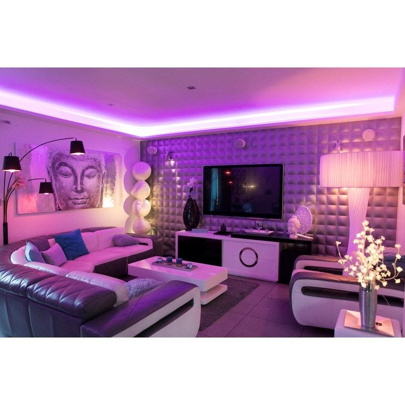 Ruban Led Connecté Bluetooth 5m Multicolore Blanc 720 Lumens Mouret