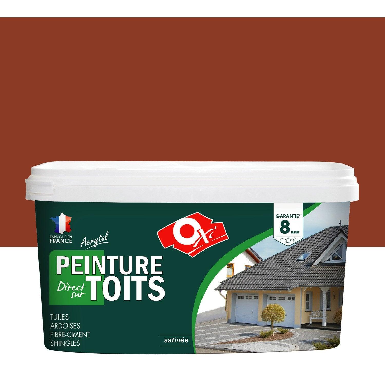 peinture toiture ext rieur acrytol oxytol ocre rouge 2 5 l leroy merlin. Black Bedroom Furniture Sets. Home Design Ideas