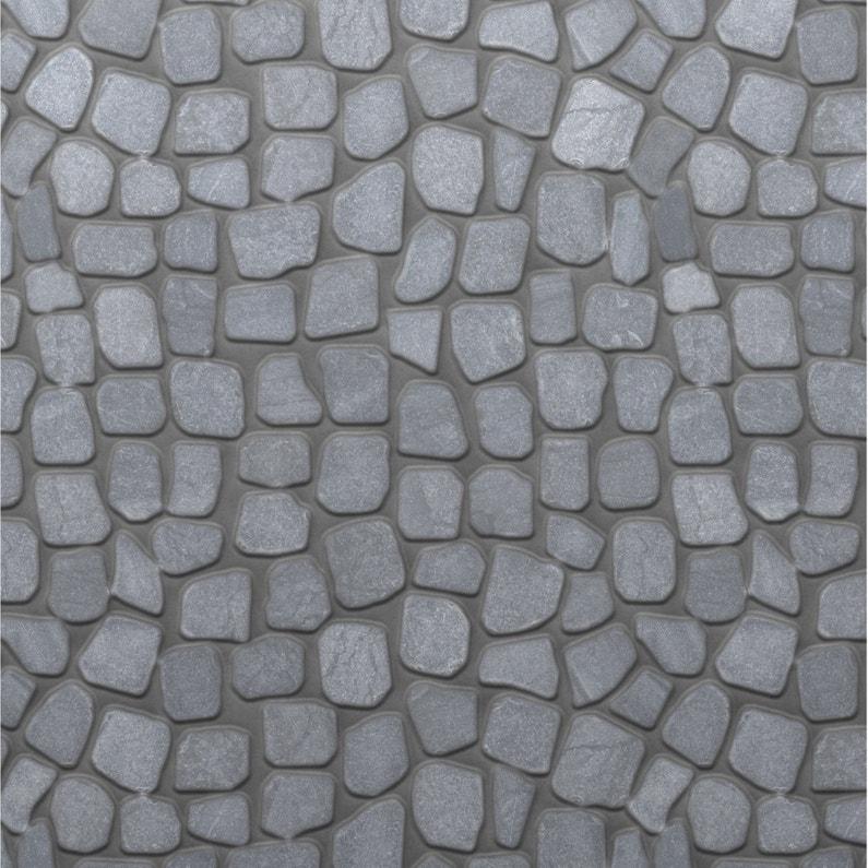 Galets sol et mur River stone gris
