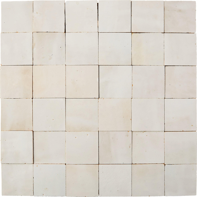 Mosaïque mur Zellige blanc fes 5 x 5 cm