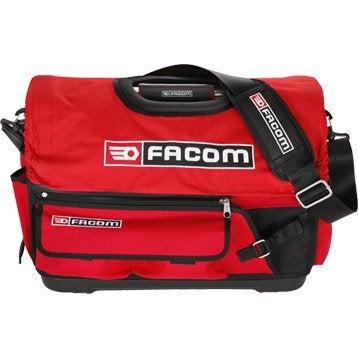 Sac à outils FACOM, L.49 cm, rouge et noir
