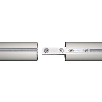 Liaison droite pour main courante aluminium OBAPI