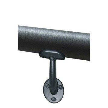 2 supports aluminium gris foncé pour main courante OBAPI