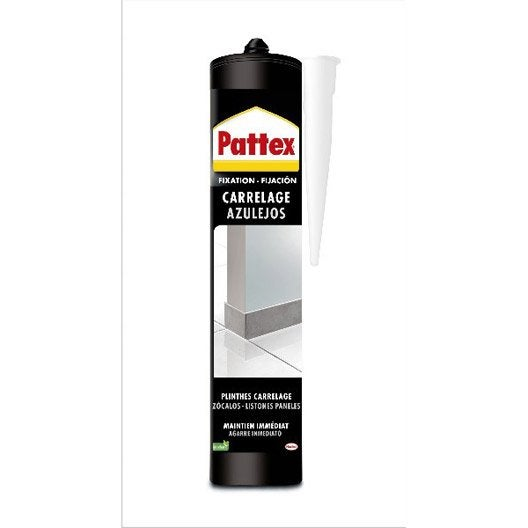Colle en p te sp cial plinthes carrelage mur 450 gr for Colle pour carrelage sur carrelage existant