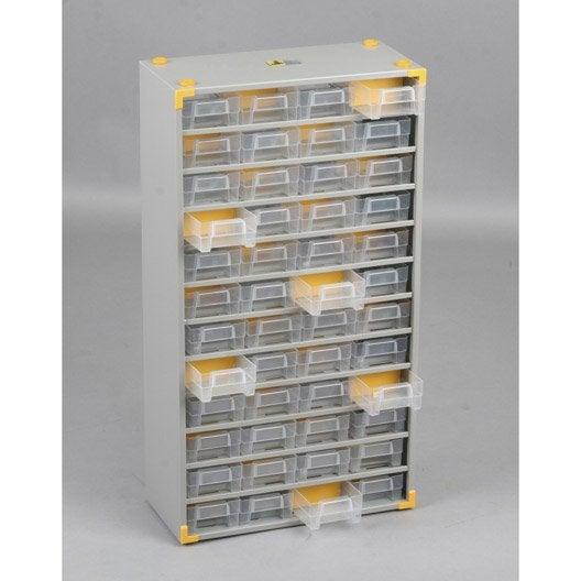 casier vis acier 48 tiroirs leroy merlin. Black Bedroom Furniture Sets. Home Design Ideas