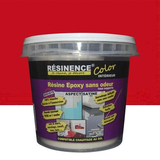 R sine color e toutes surfaces resinence color rouge 0 5 for Resine coloree pour carrelage
