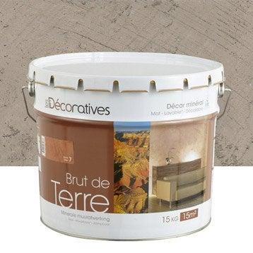 Enduit d coratif brut de terre les decoratives brun - Enduit decoratif leroy merlin ...