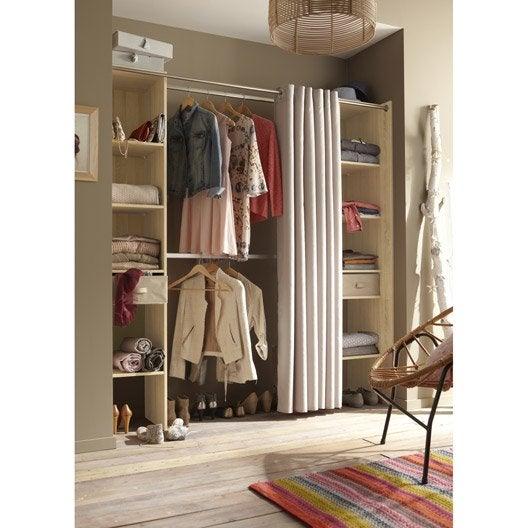 kit dressing ch ne naturel dressing star h203 x l114 180 x p50 cm leroy merlin. Black Bedroom Furniture Sets. Home Design Ideas