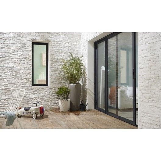 baie vitr e aluminium gris artens x cm leroy merlin. Black Bedroom Furniture Sets. Home Design Ideas