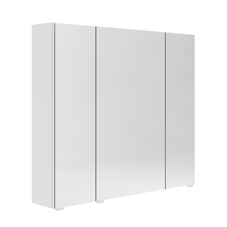 Armoire de toilette l. 80 cm, blanc Opale | Leroy Merlin