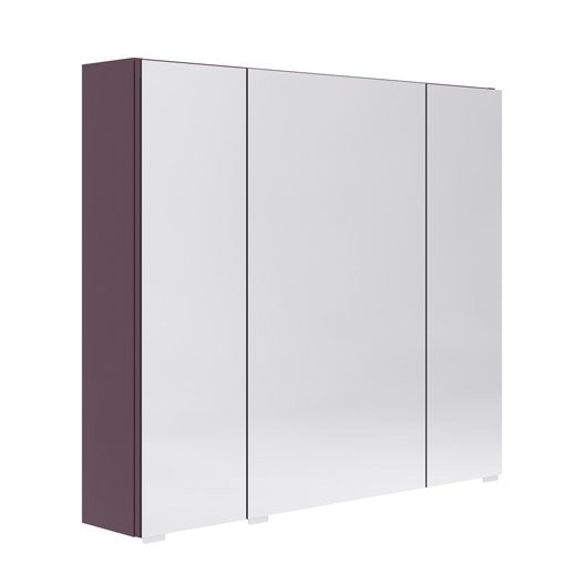armoire avec clairage int gr cm aubergine opale. Black Bedroom Furniture Sets. Home Design Ideas