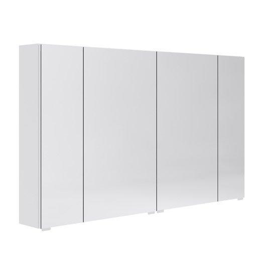 armoire de toilette l 120 cm blanc opale leroy merlin. Black Bedroom Furniture Sets. Home Design Ideas