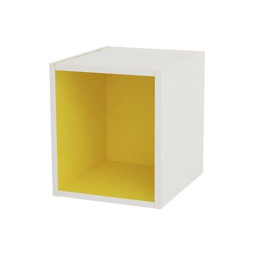 Caisson de cuisine haut cbx30 delinia jaune x x for Meuble de cuisine jaune