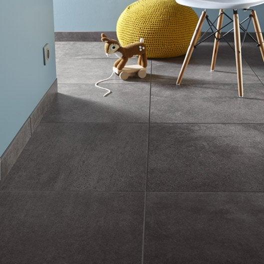 carrelage sol et mur noir effet b ton touch x cm. Black Bedroom Furniture Sets. Home Design Ideas