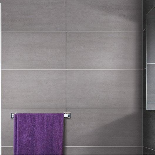 Carrelage mural et fa ence pour salle de bains et cr dence for Faience gris clair salle de bain